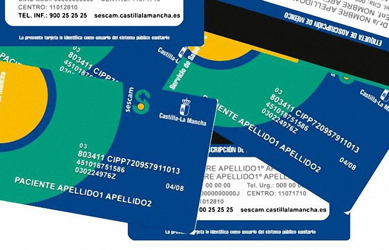 Un código QR y caracteres en Braille, son la novedades de la nueva Tarjeta Sanitaria de Castilla La Mancha