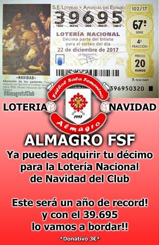loteria navidad Almagro FSF 314