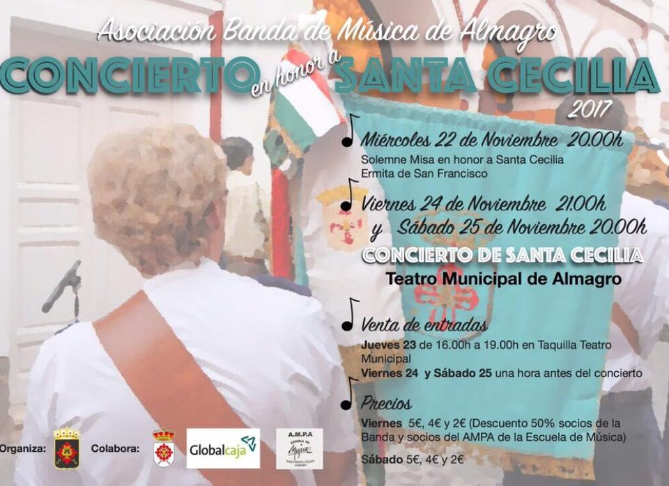 Almagro La Banda de Música de Almagro celebrará dos conciertos para festejar su patrona Santa Cecilia