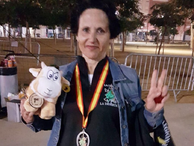 Almagro Nieves Romero vencedora en la categoría Master A Femenino en La Desértica de Almería
