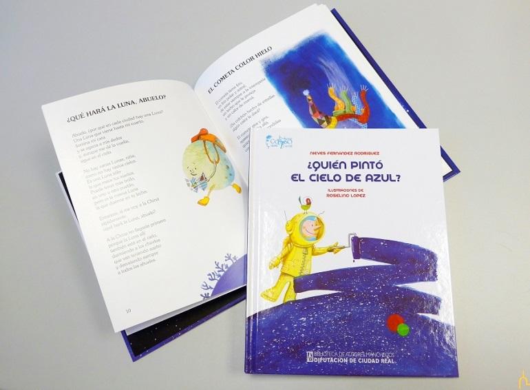 Almagro Nieves Fernández y Roselino López, presentan su nuevo libro infantil ¿Quién pintó el cielo de azul