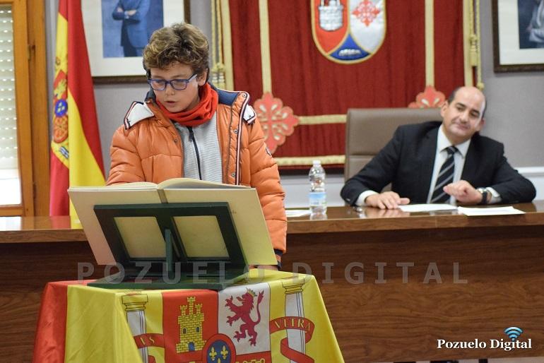 Pozuelo de Calatrava Alumnos de CEIP José María de la Fuente celebran el Día de la Constitución Española en el Salón de Plenos del Ayuntamiento