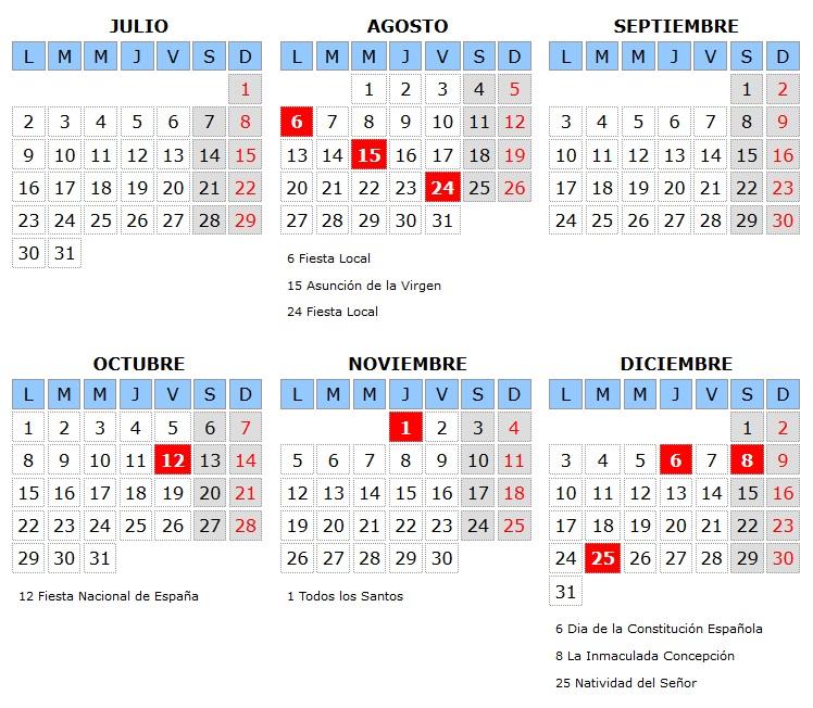 Calendario Laboral Espana.Calendario Laboral 2018 Para Almagro Almagro Noticias